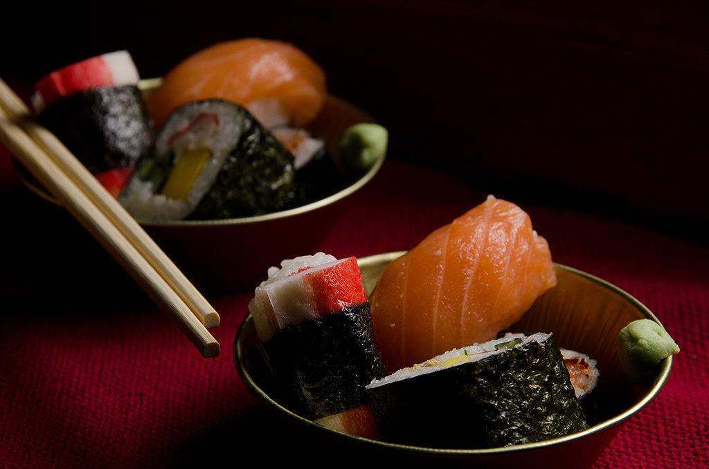 Fotografia profissional Angelo Avila, comida japonesa, Sushi, Sashimi, rolinho primavera, Kani Sashimi.