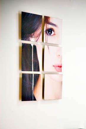 Painel fotográfico em blocos para parede