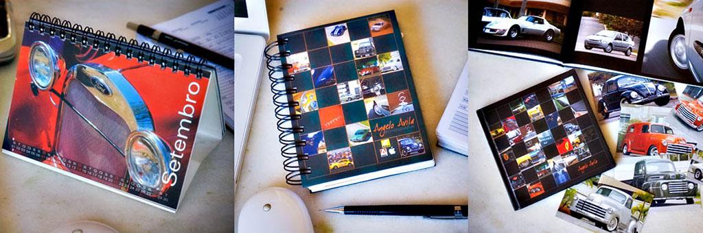 Calendários e agendas personalizadas para seu escritório, para você ou para seu cliente.